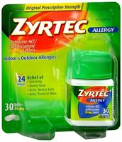 Zyrtec Allergy 10 mg Tablets 30 Tablets