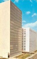 Detroit Michigan~New City County Building~1950s Postcard