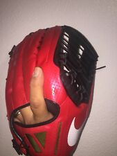 NIKE VAP0R V360 HYPERFUSE MEN'S BASEBALL GLOVE RIGHT-HAND THROW RED 12.75