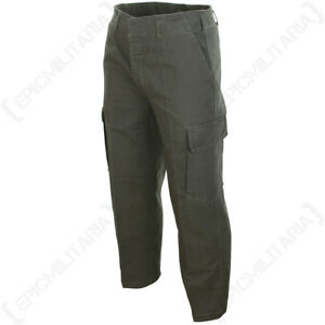Prewashed Moleskin Trousers - German Army Combat Cargo Work Pants - Tough & Soft