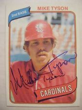 MIKE TYSON signed CARDINALS 1980 Topps baseball card AUTO Autographed CUBS #486