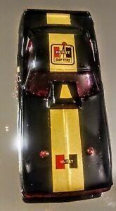 Original Aurora AFX Black HURTS  HEMI Cuda Funny Car HO body ONLY