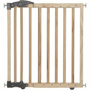 Clippasafe Dual Fixing Wooden Stair Gate for Baby Safety-Open Box, 68cm-102cm