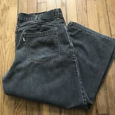 Levis SilverTab Baggy Fit Mens Jeans Shorts 40 X 25 Hemmed Gray Denim