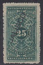 MEXICO, 1887-88. Revenue Jalisco Renta JA7B, Used