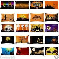 Halloween Pillow Case Cotton Linen Sofa Bed Cushion Cover Pillowcase Home Decor