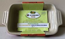 """Solid Red Le Creuset 7"""" x 5"""" Rectangular Baking Dish Freezer to Oven"""