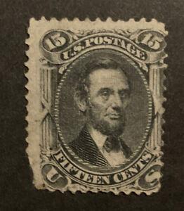 TDStamps: US Stamps Scott#98 15c Lincoln Unused NG Corner Tear Off CV$1600.00