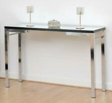 Valencia Console Table Mirrored with Black Trim