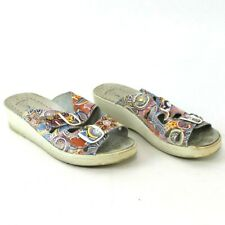 Spring Step Thrill Multi-Color Floral Leather Sandals sz 8.5 / 38