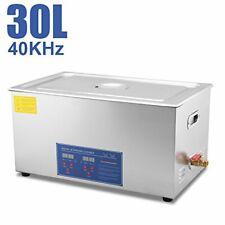 Hfsr Commercial Grade Digital Ultrasonic Cleaner Stainless Steel 30l Capacity