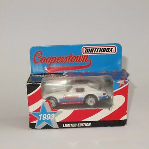 Matchbox Limited Edition Cooperstown Chevrolet Corvette Closed Top