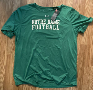 NOTRE DAME FOOTBALL TEAM ISSUED UNDER ARMOUR SHIRT NEW TAGS JUICE