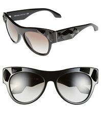 PRADA Voice PR 22Q / SPR 22Q Black Crystal Embellished Sunglasses