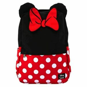 Official Loungefly Minnie Mouse Cosplay School Laptop Bag Backpack