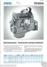 Equipment Brochure - Volvo Penta - Td100G Diesel Engine 1982 German (E2679)