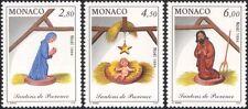Mónaco 1994 Figuras De Cuna De Navidad Saludos///Natividad/casi sin/niño 3v Set (mc1072)