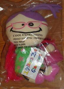 """I Wanna Be Glamorous Doll 10"""" Soft Plush Stuffed Beanie AVON 2002 NEW in package"""