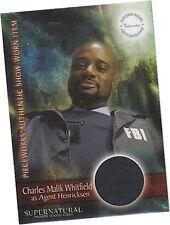 Supernatural Season 3: PW-6 Charles Whitfield - Agent FBI Jacket Pieceworks Card