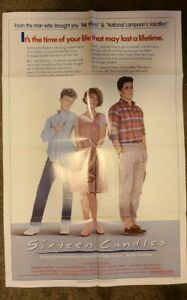 vintage SIXTEEN CANDLES film poster CANVAS  wood frame 8x10-MOLLY RINGWALD-