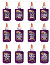 12 Lot Elmer's Elmer's Washable Goes On Purple/Dries Clear School Glue-3 Oz