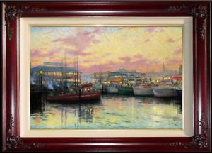 Thomas Kinkade ~ Fisherman's Wharf, San Francisco ~ S/N Canvas 24x36