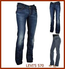 levis 570 jeans levi's donna elasticizzati a vita bassa gamba dritta w26 w27 w31