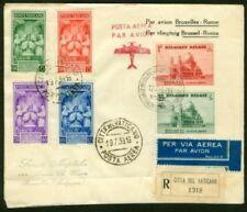 Vatican 1939 Brussels-Rome roundtrip FFC/Pius XII -1
