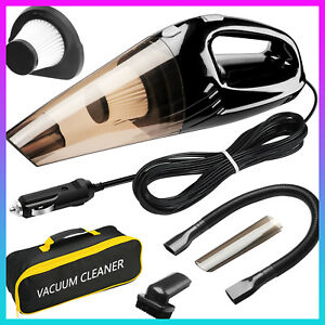 [Upgraded] Car Vacuum Cleaner, High Power 120W Wet&Dry with 15FT Power Cord&Bag
