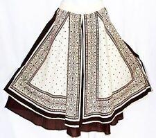 M Hippie Tribal Ethnic Boho Bohemian Peasant Gypsy Belly Dancing Split Skirt