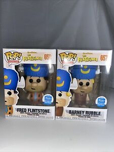 Funko POP Vinyl Fred Flintstone 658 Barney Rubble 657 Funko Shop Exclusives