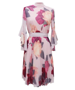 Chi Chi Jessamy Dress Womens Mink Size UK 10 *REF181