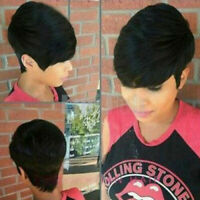 Women Short Bob Brazilian Hair Lace Wigs Pixie Cut Short Full Wigs Cospaly Party
