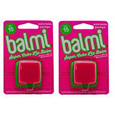 2 x Balmi Super Cube Lip Balm Watermelon Watermelons Spf15 Lip Care