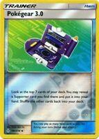 4x Pokegear 3.0 182/214 Unbroken Bonds Pokemon Playset x4 Reverse Holo NM