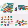 15Pcs Fish Wooden Magnetic Fishing Toy Set Fish Game Educational Fishing Fun Toy