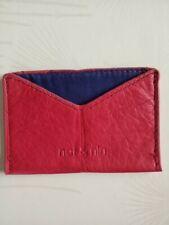 Porte carte en cuir rouge NAT & NIN