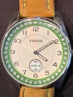 Fossil Watch Rhinestones Stainless Steel 10ATM Water Resistant AM4190 250811