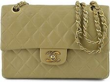 CHANEL MATELASSE DOUBLE FLAP Chain Shoulder Bag 100% Auth From JAPAN