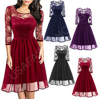 Women's Vintage New Lace Cocktail Evening Party Wedding Work Casual Office Dress