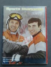 Billy Kidd Jimmy Heuga Autographed Sports Illustrated Feb 5, 1968 Good Condition