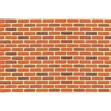 JTT Scenery Products 1:125 TT-scale Brick Plastic Pattern Sheet, 2/pk 97421