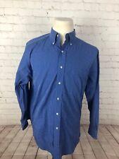 Brooks Brothers Men's Blue Stripe Cotton Dress Shirt Size 16 34 $125