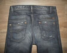 Men's DIESEL DARRON Slim Fit Distressed Button Fly Selvedge Jeans Size 30 x 32