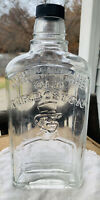 Vintage OLD MR BOSTON Embossed Glass Bottle, One Pint