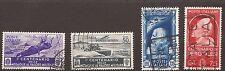 1934-37 MEDAGLIE c. 50 P.O.+P.A.+ SALONE AERONAUTICO L. 1,25+c.75 PERGOLESI € 30