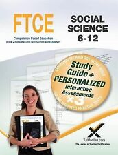 FTCE Social Science 6-12 Book and Online by Sharon Wynne (2014, Paperback)