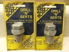 9/16-12 Thr, ROBCO Drill N Sert, Threaded Insert, Taps Own Threads, Free US Ship