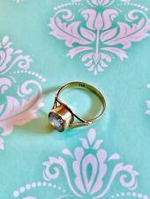 Ring 333 Gold mit violettem Stein
