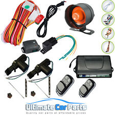2 DOOR KEYLESS CENTRAL LOCKING KIT + CAR ALARM SYSTEM IMMOBILISER,2 YEAR WARRANT